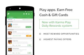aplikasi penghasil uang appkarma rewards & gift cards