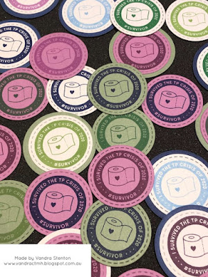 #CTMHVandra, Colour Dare Challenge, color dare, toilet paper, magnet, circles, stitched thin cuts, thin cuts, National Scrapbooking Month, CC7213, purple, green, blue, Survivor, gifts, papercraft,