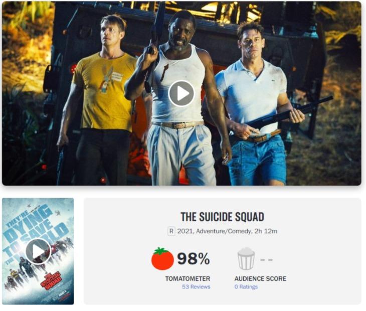 The Suicide Squad recibe un 98% en Rotten Tomatoes