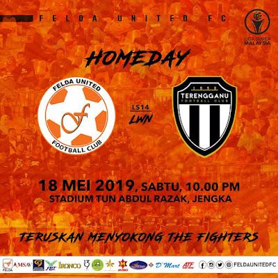 Live Streaming Felda United vs Terengganu Liga Super 18.5.2019