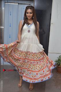 Telugu Actress Anu Emmanuel New Stills in Beautiful White Long Dress  0076.JPG