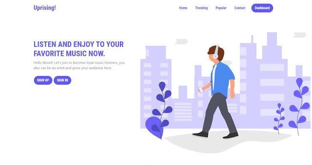 Source Code Streaming Musik menggunakan PHP Native dan MySQL