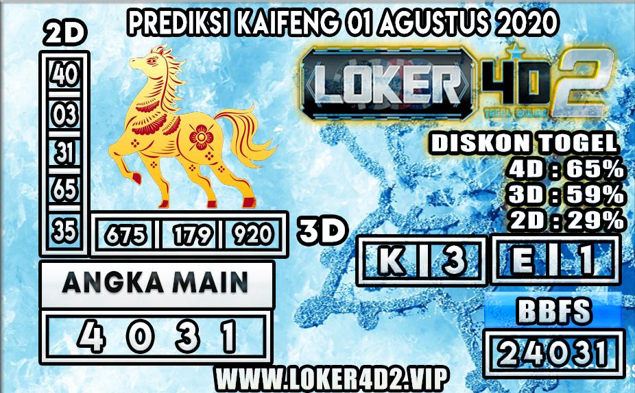 PREDIKSI TOGEL LOKER4D2 KAIFENG 01 AGUSTUS  2020