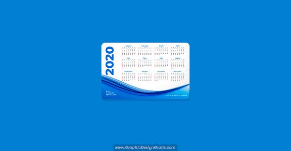 Moderno calendario 2020 gratuito editable