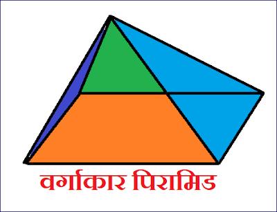 वर्गाकार पिरामिड का  चित्र