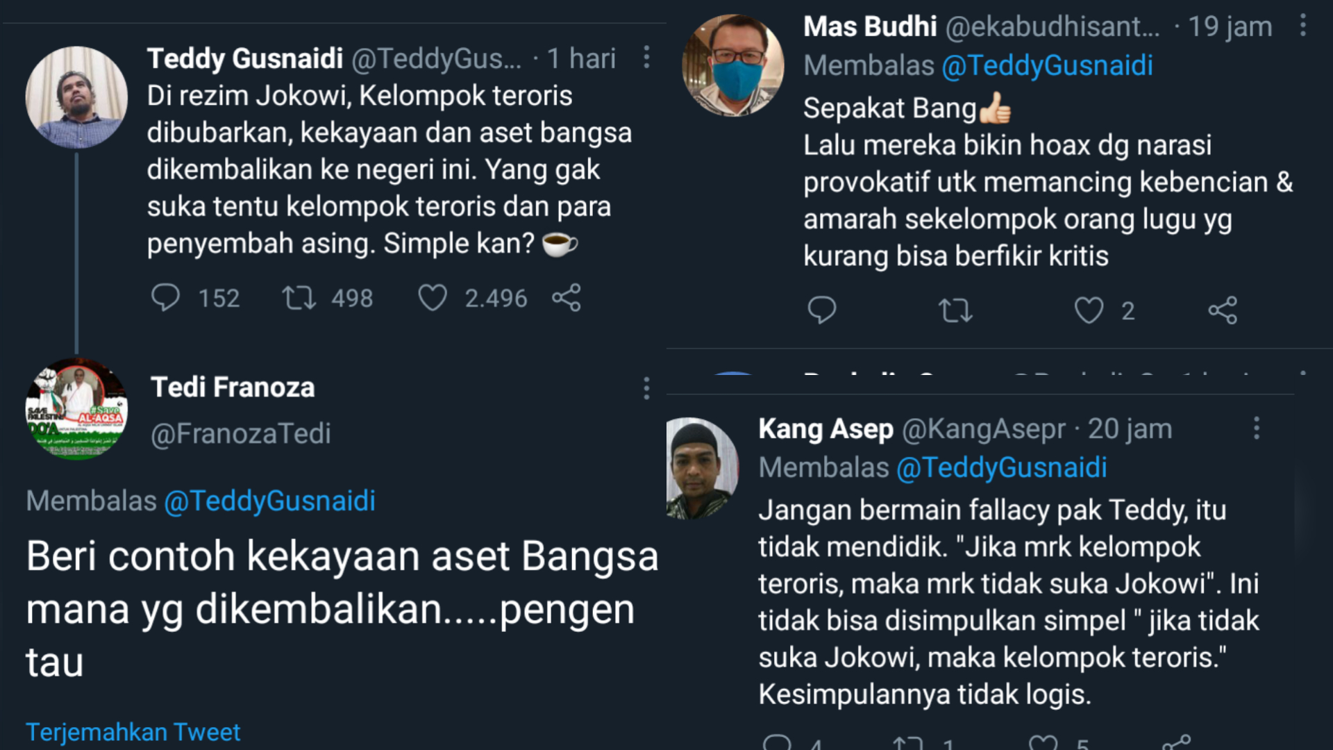 Sindir Pihak yang Tak Suka Rezim Jokowi, Teddy Gusnaidi: Dasar Kelompok Penyembah Asing!