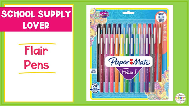 No teacher gift guide needed here to let you know she will love a brand new set of Flair Pens.