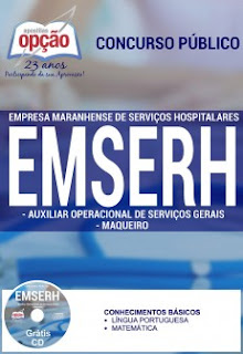 Apostila concurso EMSERH AUXILIAR OPERACIONAL MARANHÃO 2016.