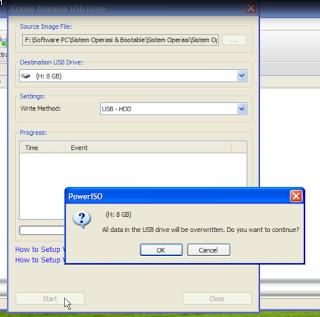 5 - Jendela Notifikasi Penghapusan Data di Flash Disk, Klik OK