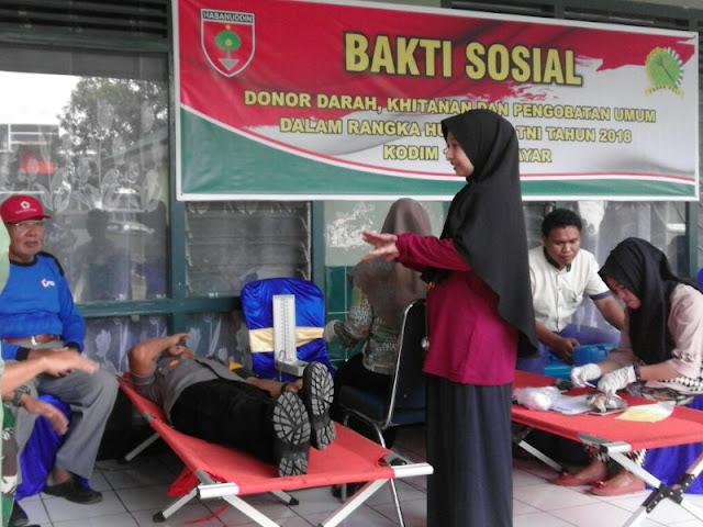 DP3AP2KB Meriahkan HUT TNI ke 73 dengan Program KB-Kes dan Donor Darah