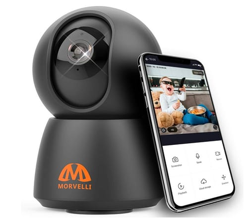 M MORVELLI FHD30 Newest 2021 WiFi Security Camera