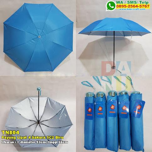 Payung Lipat 4 Sakura 5C2 Biru