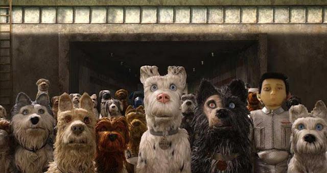 Fotograma de la película de animación en stop motion Isla de Perros del director Wes Anderson