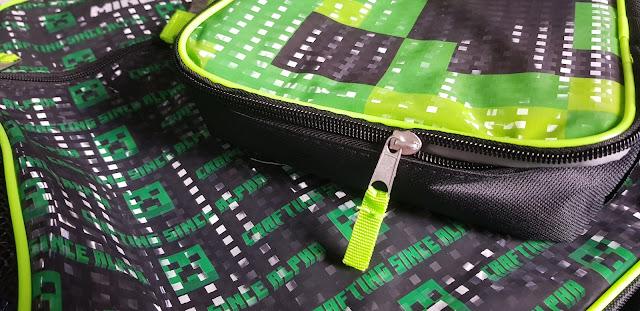 Vanilla Underground reflective school bags for kids minecraft pattern