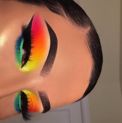 Maquillaje arcoiris - Maquillaje colorido