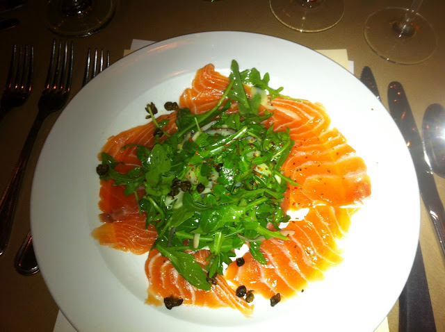 Salmon, Arugula, Red Onions, Capers, Truffle Salt