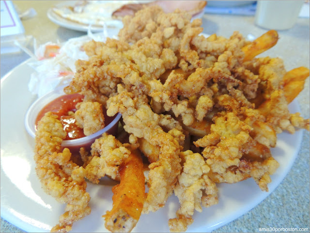 Almejas Fritas en el Marriner's Restaurant de Camden