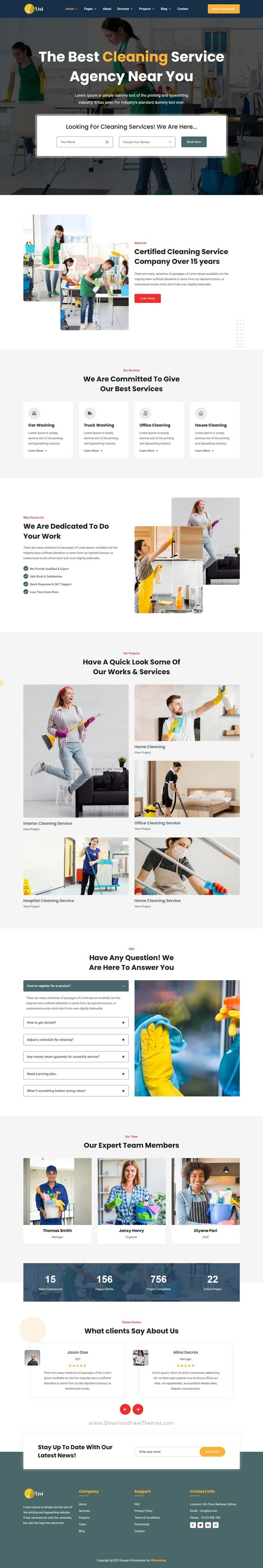 Cleaning Service Company HTML Template