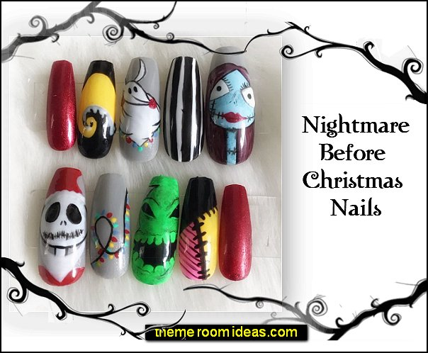 Nightmare Before Christmas nails design  Nightmare Before Christmas nails