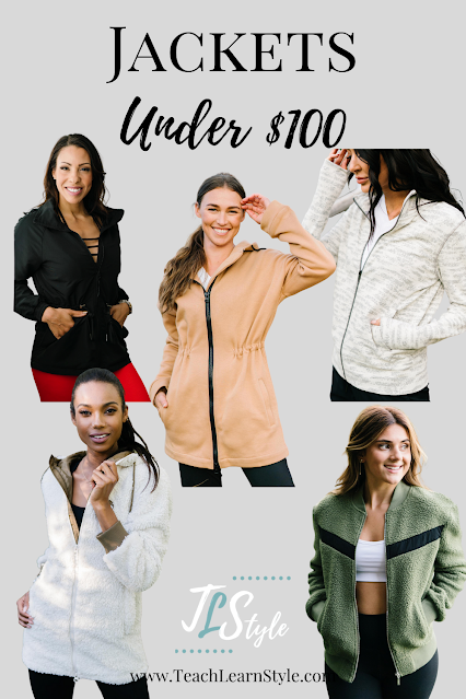 casual women's jackets for fall, affordable women's jackets, zyia active jackets, zyia reviews