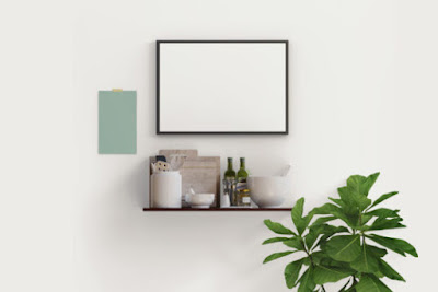 picture frame in kitchen Mockup