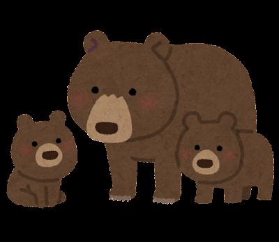 クマの親子のイラスト
