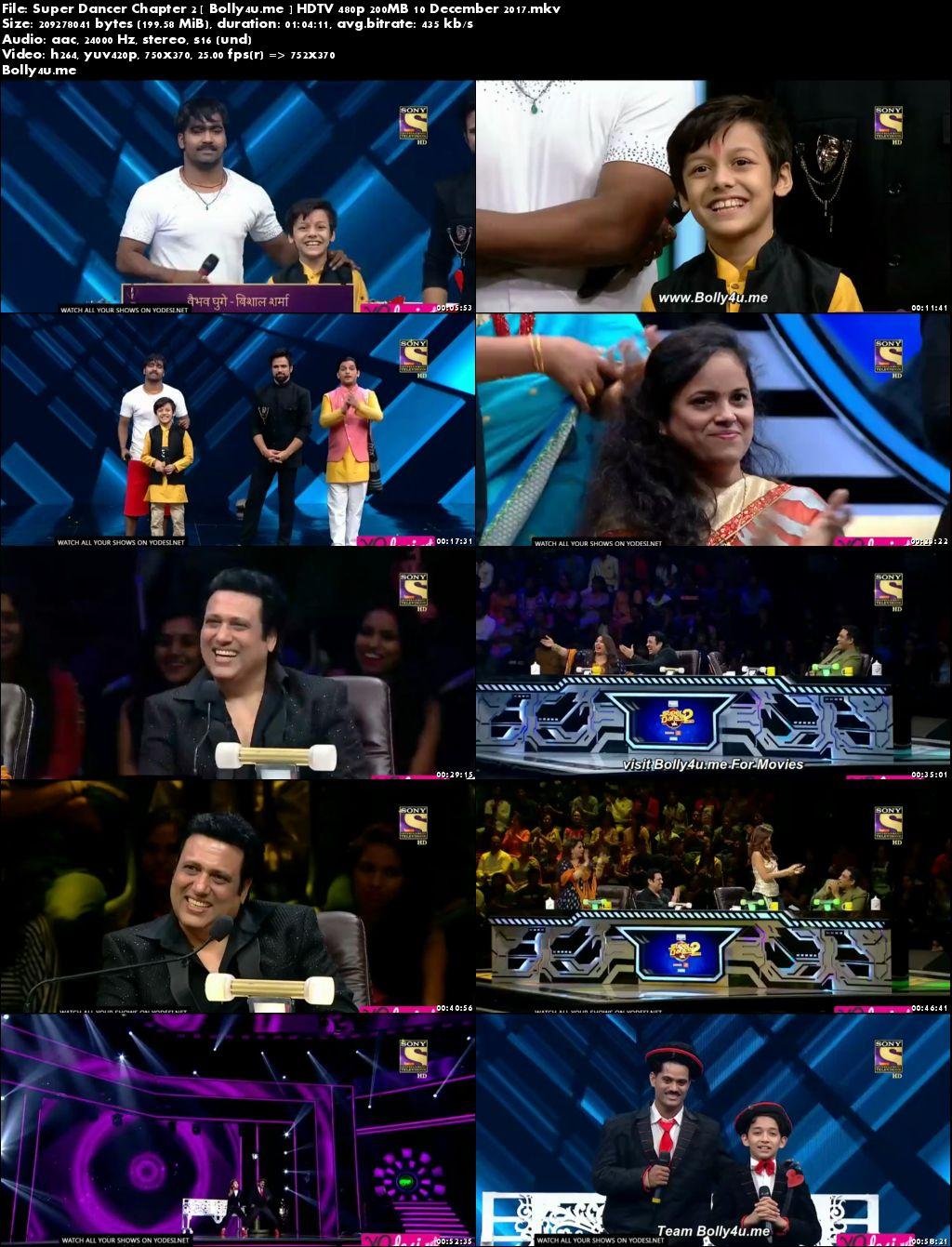Super Dancer Chapter 2 HDTV 480p 200MB 10 December 2017 Download