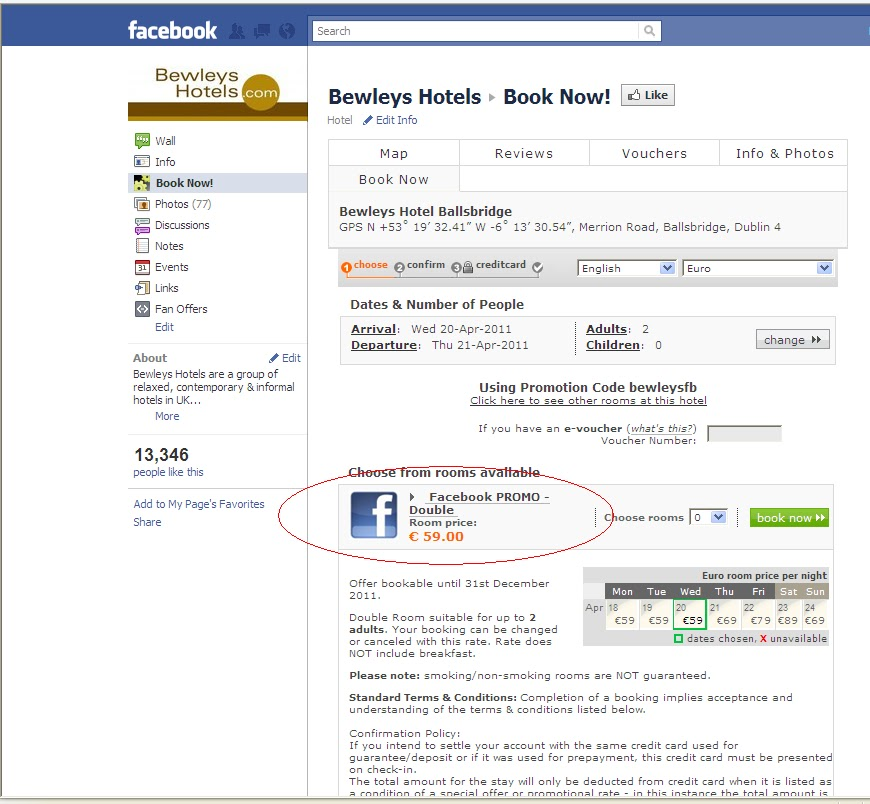Bewley's Hotels Blog: Book Your Bewley's Hotel Stay on Facebook