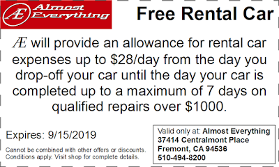 Coupon Free Rental Car August 2019