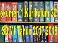 Dokumen 1 Kurikulum 2013 SD/MI Revisi Final Tahun 2017/2018