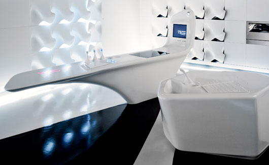 ambassade du design cuisine hi tech ernestomeda par zaha hadid. Black Bedroom Furniture Sets. Home Design Ideas
