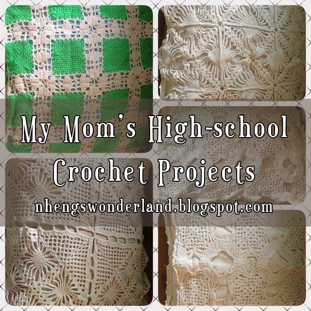 My Mom's High-school Crochet Projects