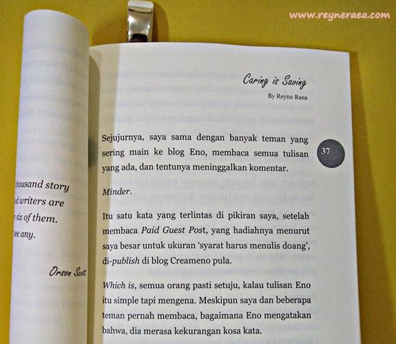 Dibalik Tulisan Saya Di Buku 'Thoughts' By Creameno