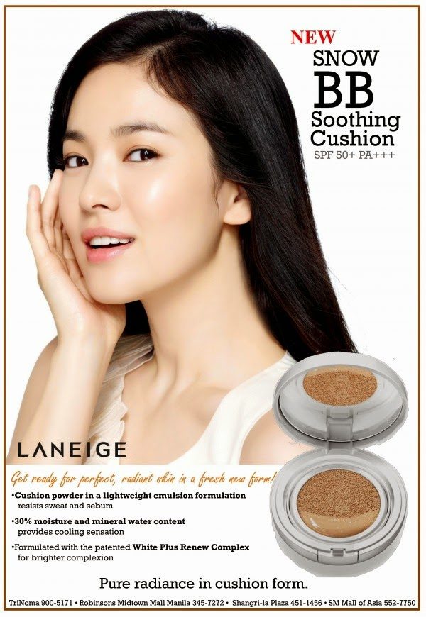 Review Laneige Snow BB Soothing Cushion Natural Beige