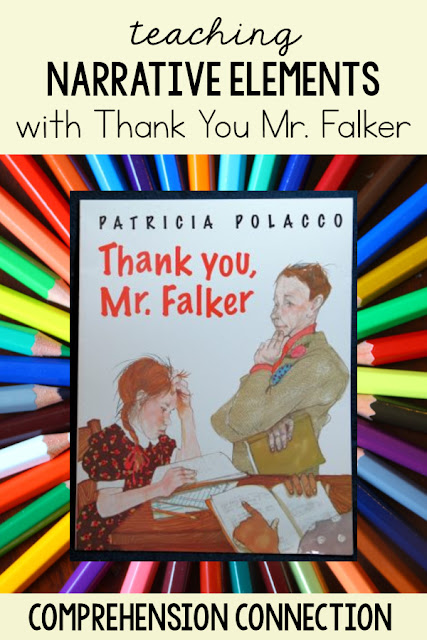 If you're teaching narrative elements, check out this post featuring the book, Thank You Mr. Falker. Free resource included.