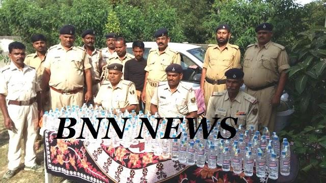कार की डिक्की से शराब बरामद, चालक गिरफ्तार