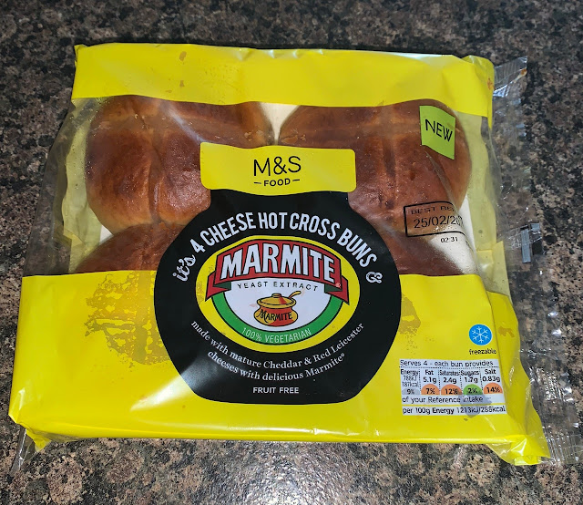 Cheese and Marmite Hot Cross Buns