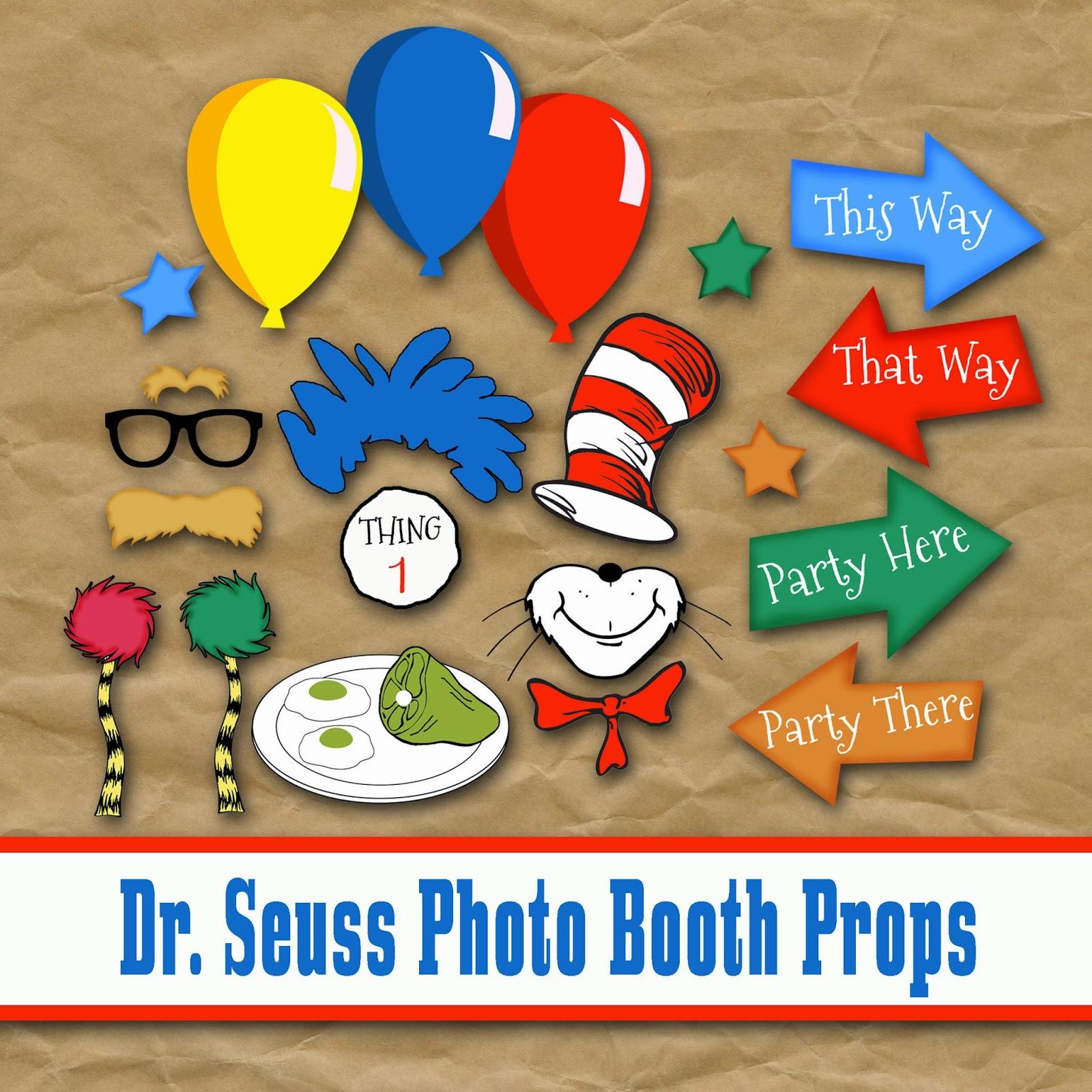 Old Market Corner Dr Seuss Photo Booth Printable Props