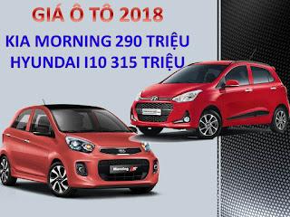 Giá Morning và I10 2018