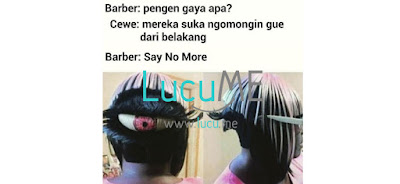 10 Meme Kocak 'Tukang Cukur dan Pelanggan' Ini Bikin Ngakak Sambil Kayang