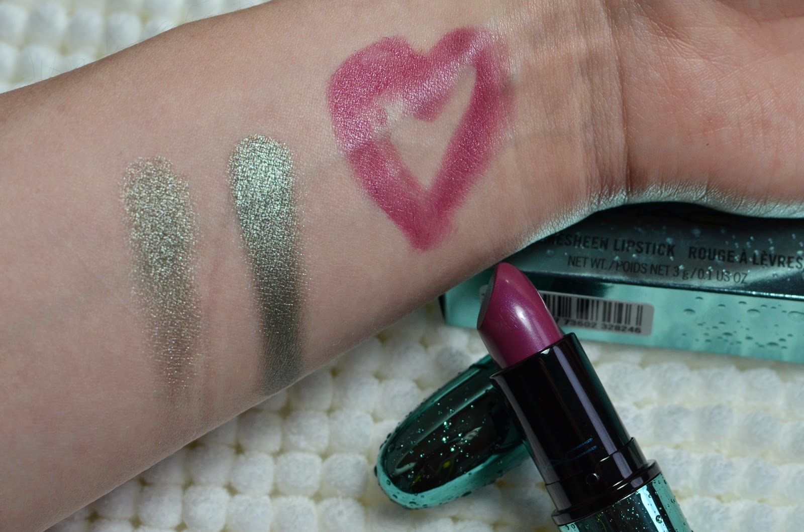 MAC Alluring Aquatic Silver Sun Goddess of the Sea Review Swatch