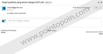Mengirim Email Dengan MATLAB
