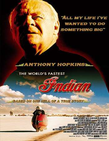 Poster Of The World's Fastest Indian 2005 Dual Audio 350MB BRRip 480p Free Download Watch Online Worldfree4u