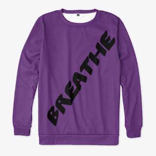 Breathe All-over Print Sweatshirt Purple