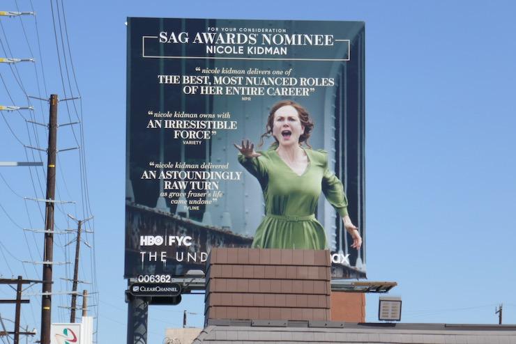 Nicole Kidman Undoing SAG Award nominee billboard