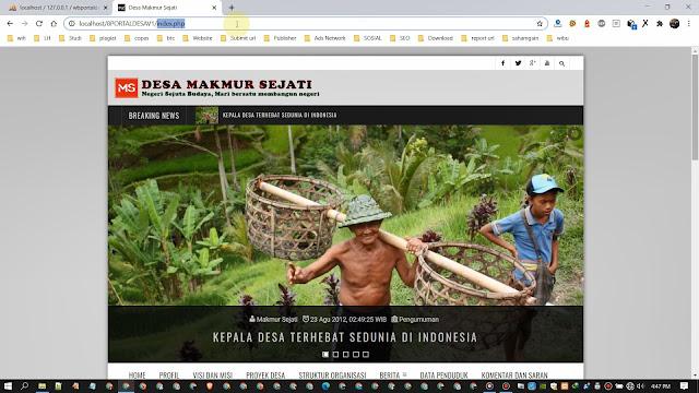 Website dan CMS Portal Informasi Desa v1