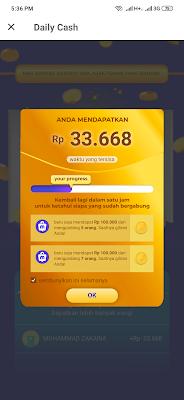 klaim uang gratis 100 ribu dari aplikasi Mucho Android