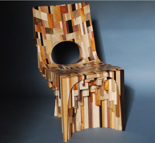 Sensacional silla de madera artesanal
