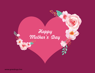 happy mothers day greetings love heart rose flowers