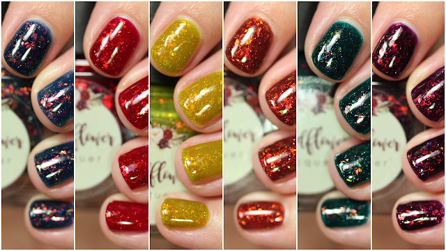 Wildflower Lacquer Fintastic Fall Collection swatches